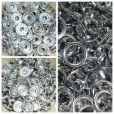 10mm KAM Open Ring Metal Snaps