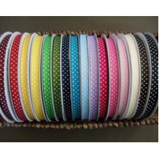 10mm Swiss Dot Grosgrain