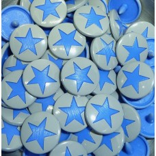 KAM Snaps Size 20 Silver with Blue Stars