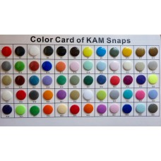 KAM Colour Chart B1-B60