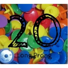 KAM Snaps Size 20 Long Prong CHOICE OF COLOURS