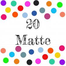 KAM Snaps Size 20 CHOICE OF COLOURS - Matte